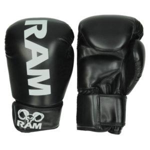 RAM PRO 1 LEATHER Black-Silver (kick)bokshandschoenen