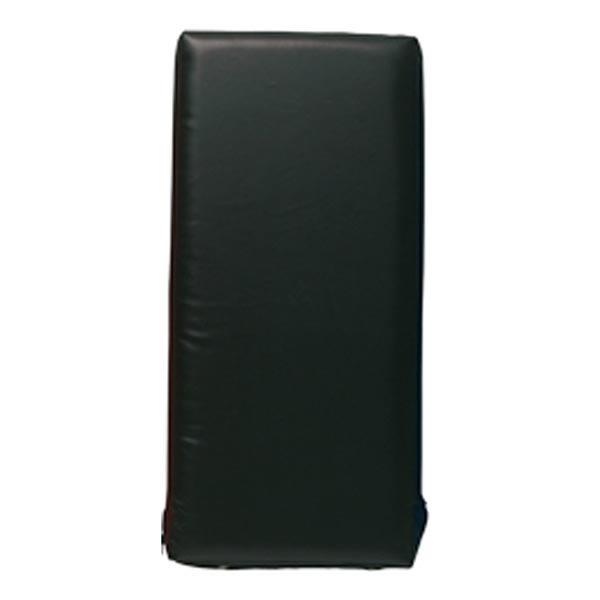 Sportief groot trap- en stootkussen 75 x 35 x 15 cm zwart