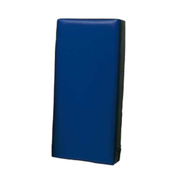 Sportief trap- en stootkussen 60 x 30 x 15 cm blauw