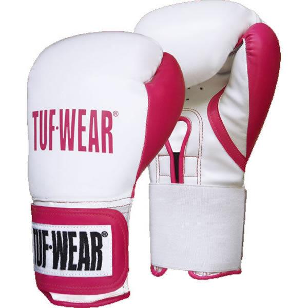 Tuf wear dames wildcat (kick)bokshandschoenen wit-roze