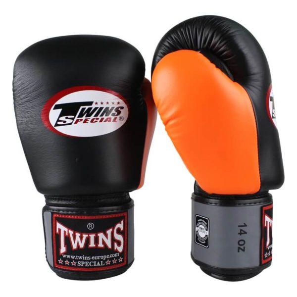 Twins BGVL 4 (kick)bokshandschoenen Zwart-Grijs-Oranje
