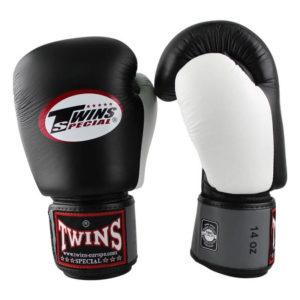 Twins BGVL 4 (kick)bokshandschoenen Zwart-Grijs-Wit