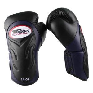 Twins BGVL 6 (kick)bokshandschoenen Zwart/Blauw